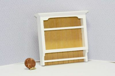 Dollhouse Miniature 1:12 Scale Fancy Wall Shelf in White & Natural Wood
