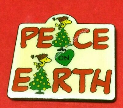 Peanuts Woodstock Wishes Peace On Earth Vintage Pin