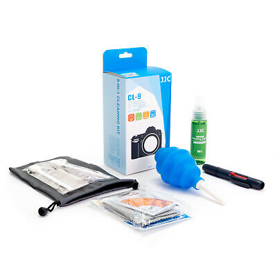 JJC 9-In-1 Complete Camera/Lens/Filter Cleaning Kit with Dust Blower & Lens Pen