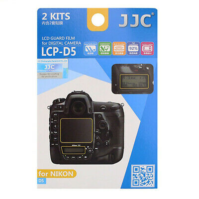 JJC 2x LCD Screen Protector Guard Top & Back for Nikon D5 FX Digital Camera