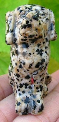 Handmade Carvved Dalmatine Dog Statue,gem(001)