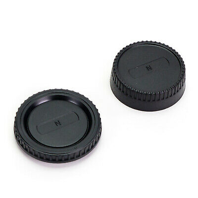 Camera Body Cap & Rear Lens Cover for Nikon F Mount D3400 D5600 D7200 D7500 D750