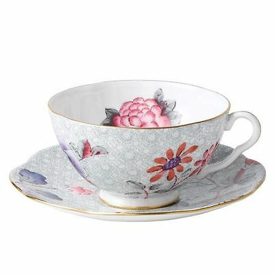 Wedgwood Harlequin Cuckoo Tea Story Teacup and Saucer GREEN  NEW IN BOX