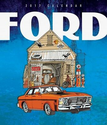 Ford Illustrated 2017 Deluxe Wall Calendar NEW by Browntrout
