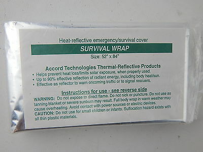 """NEW Thermal Heat Reflective Emergency Survival Blanket Wrap 52""""x84"""""""