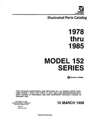 1963 1974 CESSNA 172 Series Parts Catalog Manual Revision