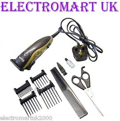 Mens Professional Electric Hair Beard Clippers Cutters Trimmers Set