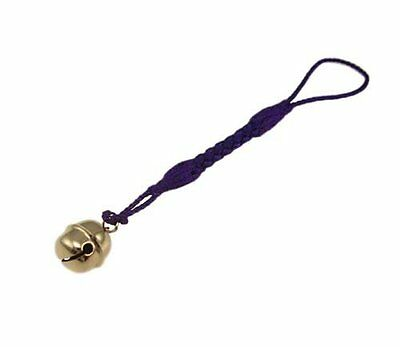 NETSUKE Japanese Traditional Strap Bell Hand made 18 Gold Bell Mini