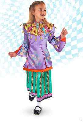 Disney Alice Through the Looking Glass Deluxe  Costume for Kids 9-10 NWT