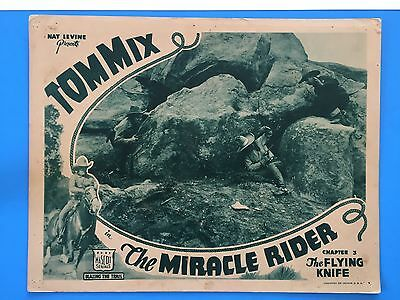 MIRACLE RIDER Chapter 3 Lobby Card (VeryGood+)1935 cowboy Tom Mix serial 8270