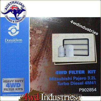 Mitsubishi Air Oil Fuel Filter Pajero 3.2l Turbo Diesel 4M41 Donaldson Filters P