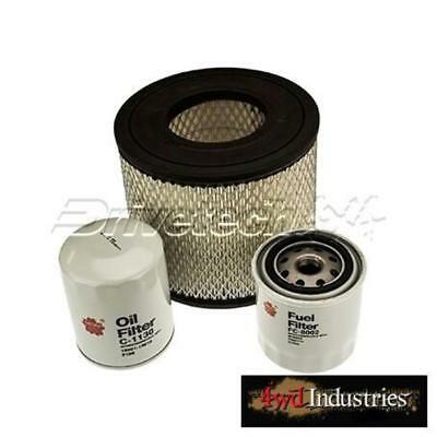 Holden Rodeo RA 3.0L Turbo Diesel Air Oil Fuel Filter Kit DRIVETECH 2003-07