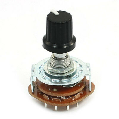 Electronic Machine 4P3T 4Pole 3 Position 2 Deck 16 Pin Rotary Switch HY