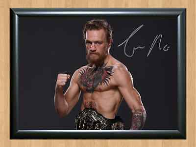 Conor McGregor UFC MMA Kickboxing Signed Autographed A4 Print Poster Photo Print