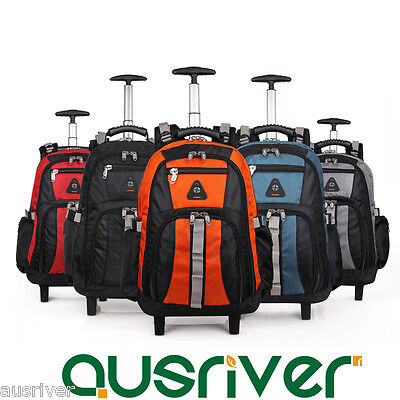 "New 20/22"" 5 Colours Luggage Backpack Travel Trolley Bag Wheels Large Capacity"