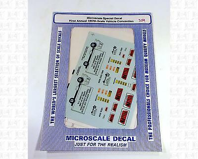 Microscale HO Decals Yellow Freight Truck Semi Truck Trailers
