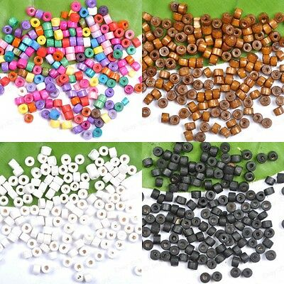 Wholesale 1000pcs Mixed Wood Tube Spacer Charms Loose Beads 6mm