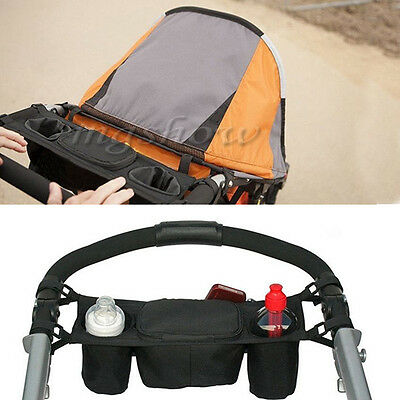 Baby Pram Stroller Food Holder Storage Bag Pushchair Cup Bottle Drink Organiser