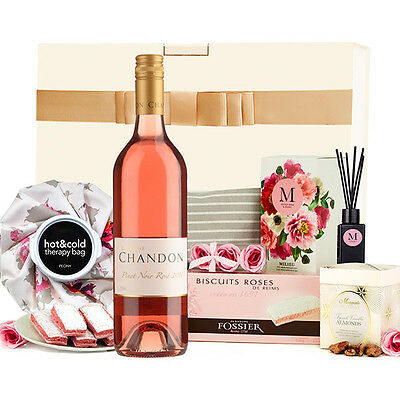 The Hamper Emporium – Velvet Rose & Peony with Prosecco Gift Box Brown Brother