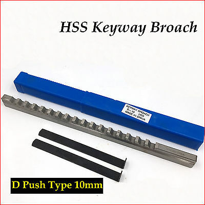 10mm HSS Keyway Broach D Push Type Metric Size & Shim CNC Machine Tool