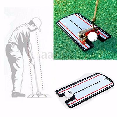 Golf Putting Mirror Training Stroke Posture Eyeline Alignment Practice Aid Guide