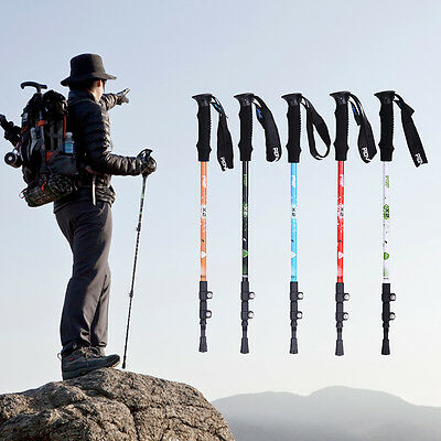 3-Section Telescopic Trekking Hiking AntiShock Ski Pole Walking Stick Alpenstock