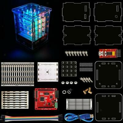 4*4*4 RGB LED Cube Light Kit Module Control Board for Arduino DIY