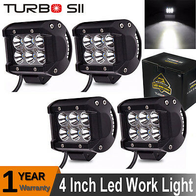 4X CREE 18W 4Inch Cube Pods LED Work Light Spot Driving Lamp Offroad 4X4WD JEEP