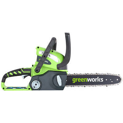 "Greenworks  40V 12"" Gmax Cordless Chainsaw With 2.0Ah Battery & Charger 2000219"