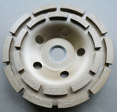"""5"""" 125mm circle diamond grinding disc grinder cup wheel double row stone marble"""