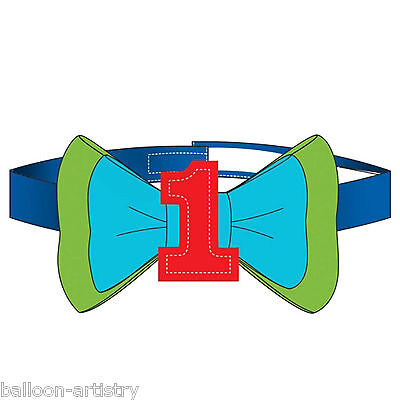 Rainbow Colours Happy 1st Birthday Children's Party Accessory Bow Tie