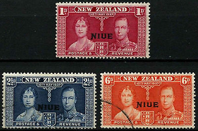 Niue 1937 SG#72-4 KGVI Coronation Used Set #D30599