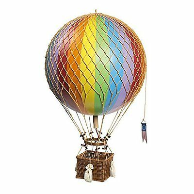 "XL Jules Verne Rainbow 17"" Hot Air Balloon Authentic Models Hanging Decor"