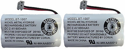 New Uniden BT-1007 BT1007 NiMH Rechargeable Cordless Telephone Battery (2 Pack)