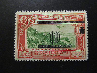 1933 - Ecuador - Surcharged In Black - Scott 320 A118 10C On 16C