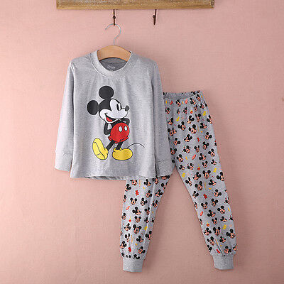 Mickey Mouse Baby Boy Girl Kids Homewear Sleepwear Pyjamas set Nightwear Clothes