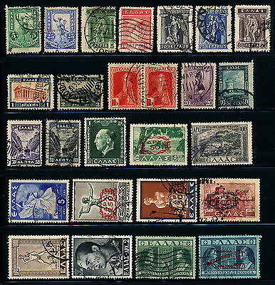 G524  Greece Collection Of 26 Used Stamps