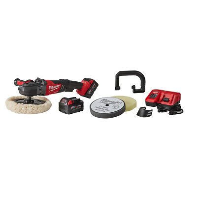 "Milwaukee M18 FUEL™ 7"" Variable Speed Polisher Kit with 2 5.0 Batts 2738-22P"