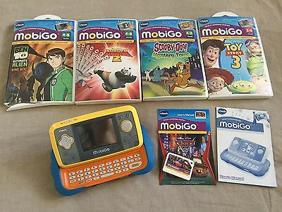 V-tech Mobigo Touch Learning System and 5 Games