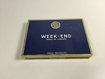 Boite Cigare Cigarette Metal Week End Tobacco  Ancien Pack Tabac Vintage