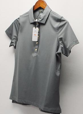 New Ladies Peter Millar E4 poly spandex Smoke short sleeves golf shirt Small