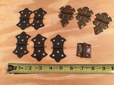 mixed lot of hinges