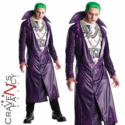 Deluxe Suicide Squad Joker Costume Mens Halloween Fancy Dress Outfit  New