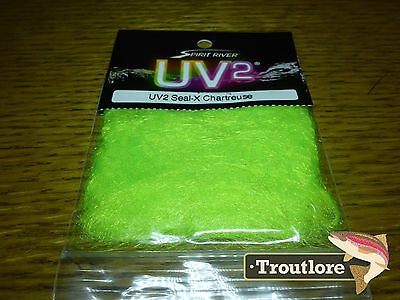 Chartreuse Uv2 Seal-X Dubbing Spirit River - New Fly Tying Dub Material