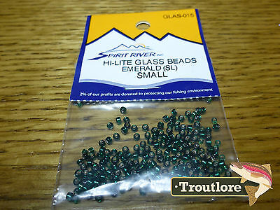 Emerald Hi-Lite Glass Beads Small Spirit River - New Fly Tying Materials