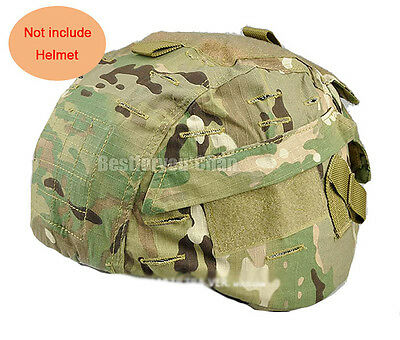 Tactical Airsoft Military MICH 2000 Ver2 Helmet Cover W/ Back Pouch Multicam MC