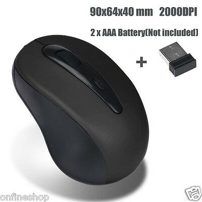 CHEAP!! 2.4GHz Wireless Mouse USB Optical Scroll Mice for Tablet Laptop Computer