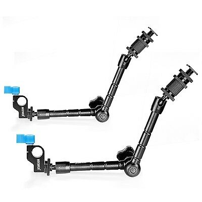 Neewer 30cm/11.8inch Aritcultating Magic Arm with 15mm Rod Clamp(2-Pack)