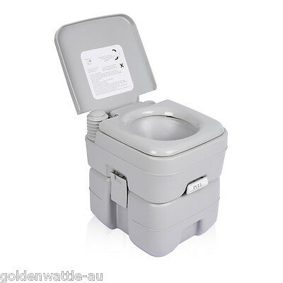 20L Portable Travel Camping Toilet Flush Porta Potti Loo Mobile Pump WC Outdoor