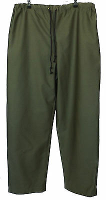 Dark Olive Army Green Renaissance Medieval Cotton Trousers Size XL 38-40W LARP